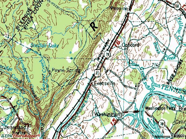 Zip code 37332 topographic map