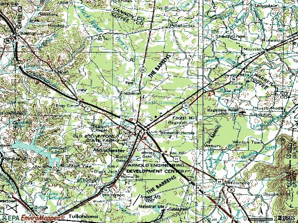 Zip code 37355 topographic map