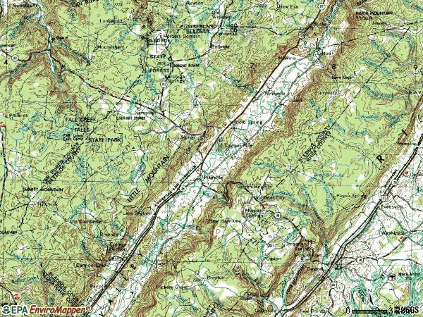 Zip code 37367 topographic map