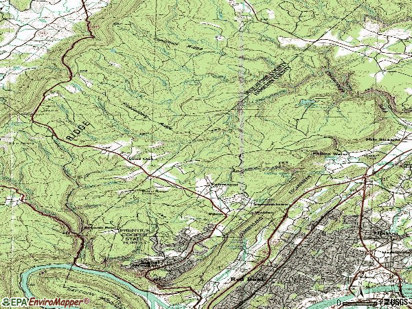 Zip code 37377 topographic map