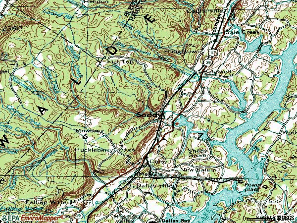 Zip code 37379 topographic map