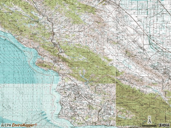Zip code 00934 topographic map