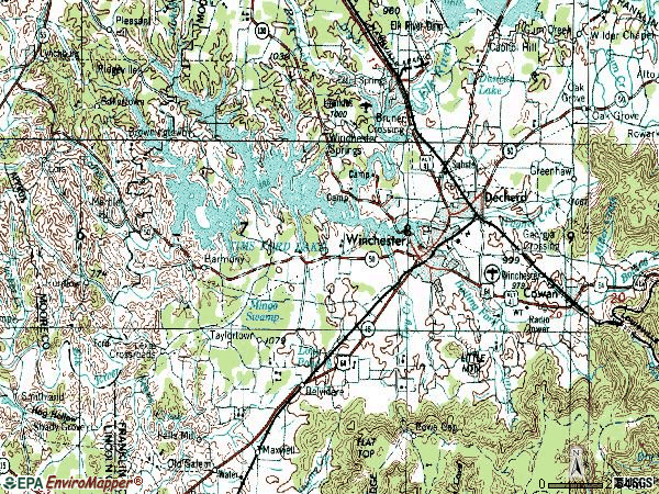 Zip code 37398 topographic map