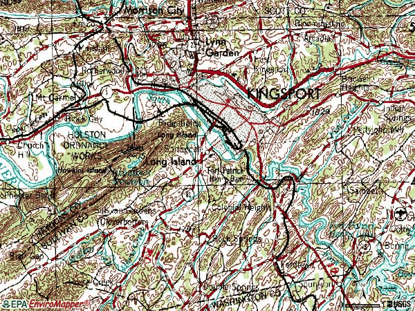 Zip code 37660 topographic map