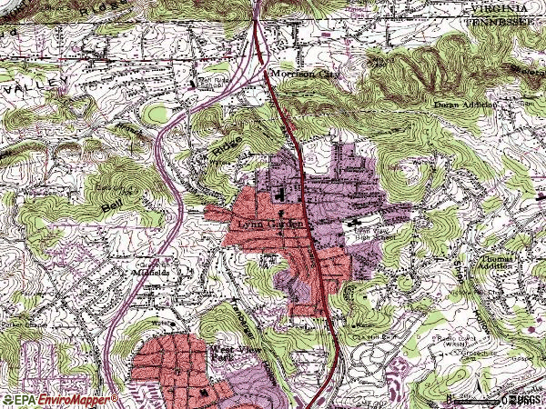 Zip code 37665 topographic map