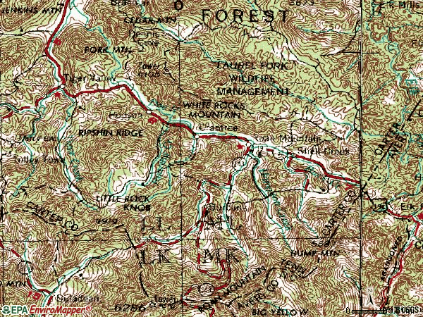 Zip code 37687 topographic map