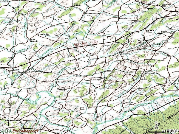 Zip code 37690 topographic map