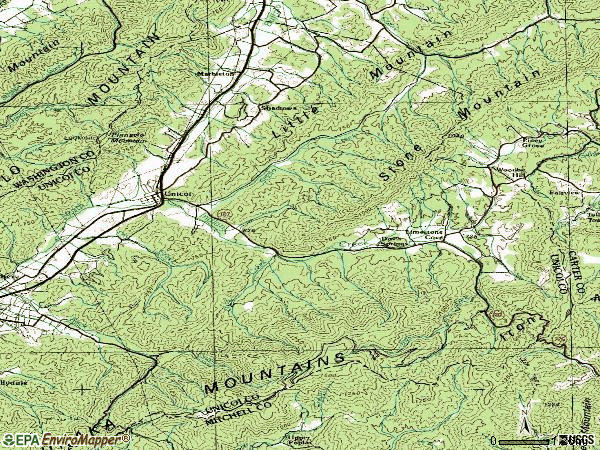 Zip code 37692 topographic map