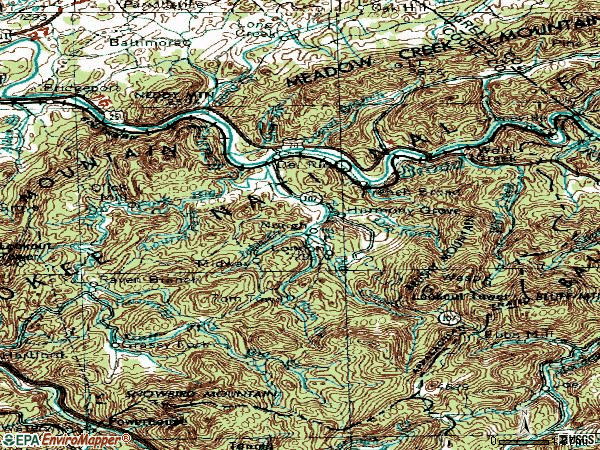 Zip code 37727 topographic map
