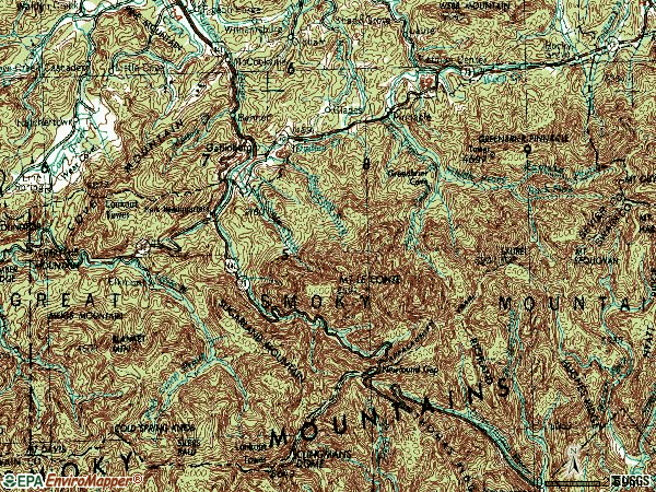 Zip code 37738 topographic map