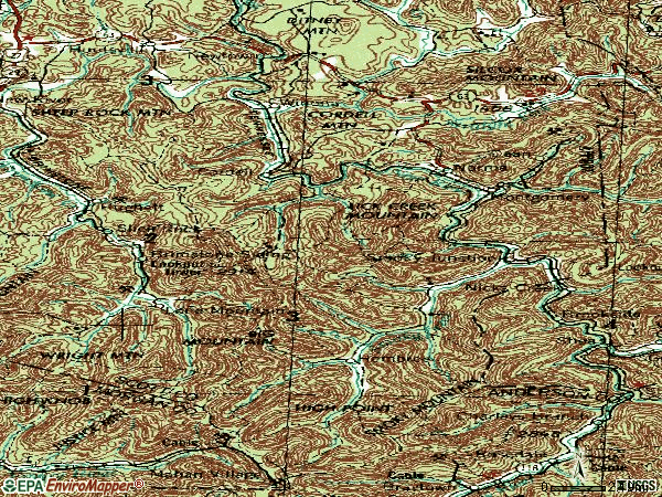 Zip code 37756 topographic map