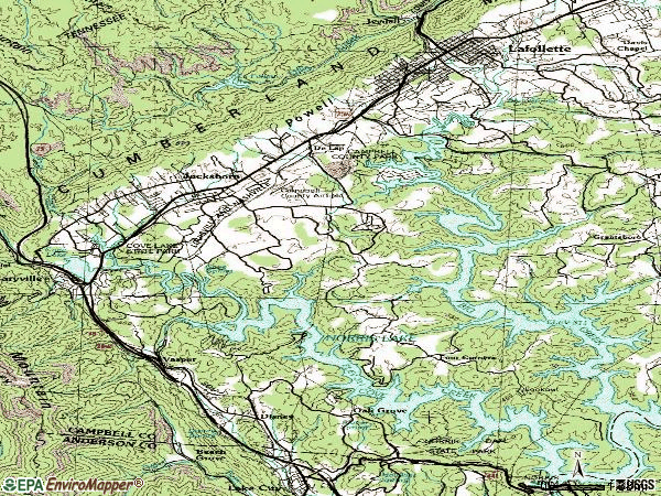 Zip code 37757 topographic map