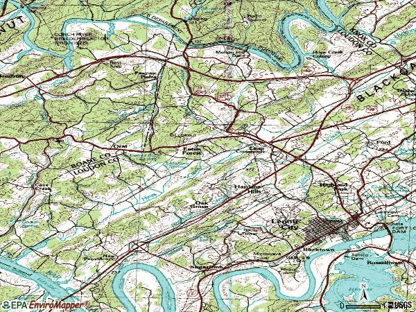 Zip code 37771 topographic map