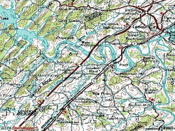Zip code 37774 topographic map