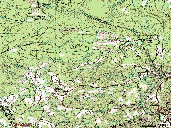 Zip code 37829 topographic map