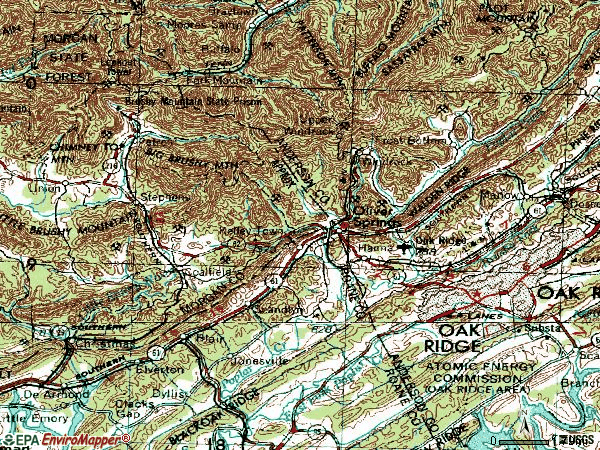 Zip code 37840 topographic map