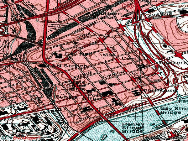Zip code 37902 topographic map