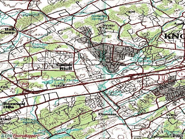 Zip code 37923 topographic map