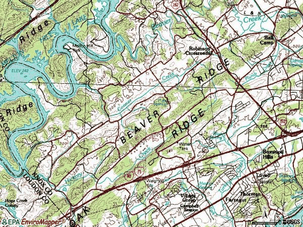 Zip code 37932 topographic map