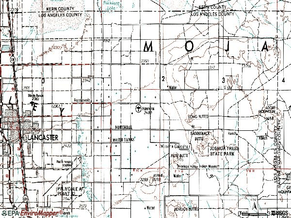 Zip code 93535 topographic map