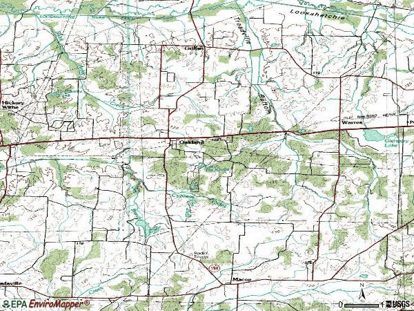 Zip code 38060 topographic map