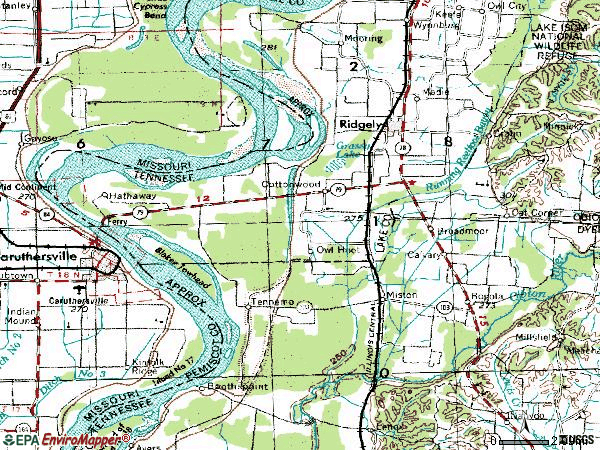 Zip code 38080 topographic map