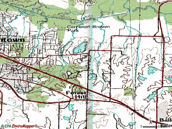 Zip code 38139 topographic map