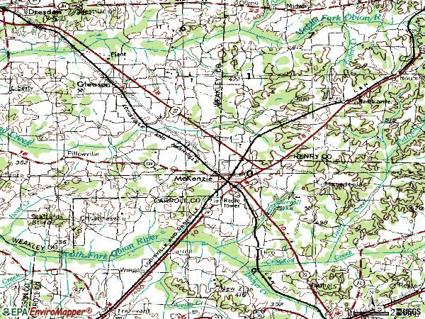 Zip code 38201 topographic map