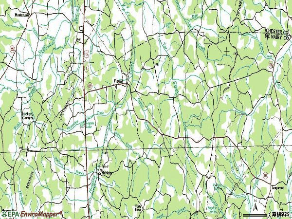 Zip code 38334 topographic map