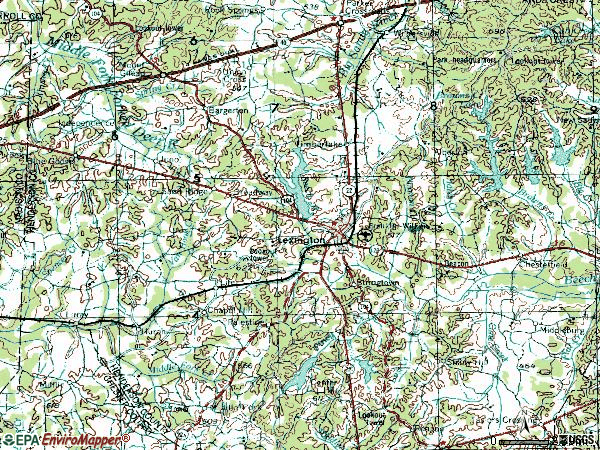 Zip code 38351 topographic map