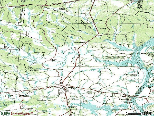 Zip code 38363 topographic map