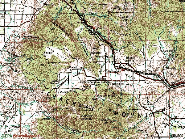 Zip code 93561 topographic map