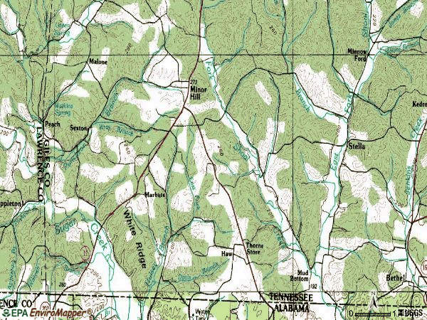 Zip code 38473 topographic map