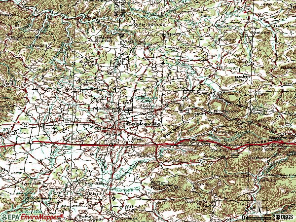 Zip code 38506 topographic map