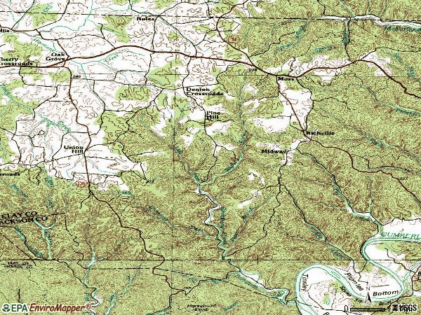 Zip code 38575 topographic map