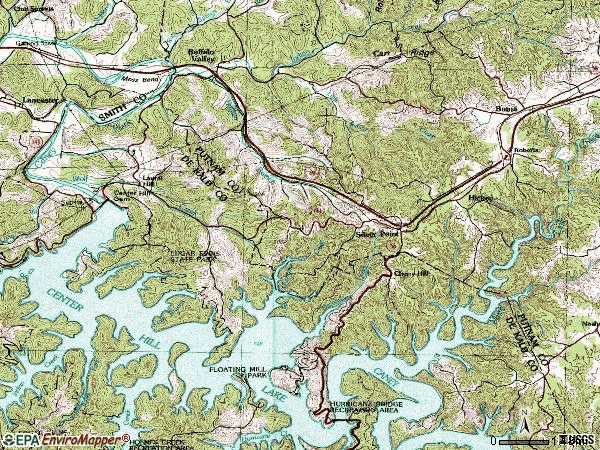 Zip code 38582 topographic map