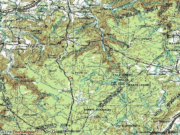 Zip code 38585 topographic map
