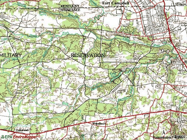 Zip code 42223 topographic map