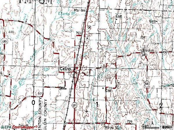 Zip code 75009 topographic map