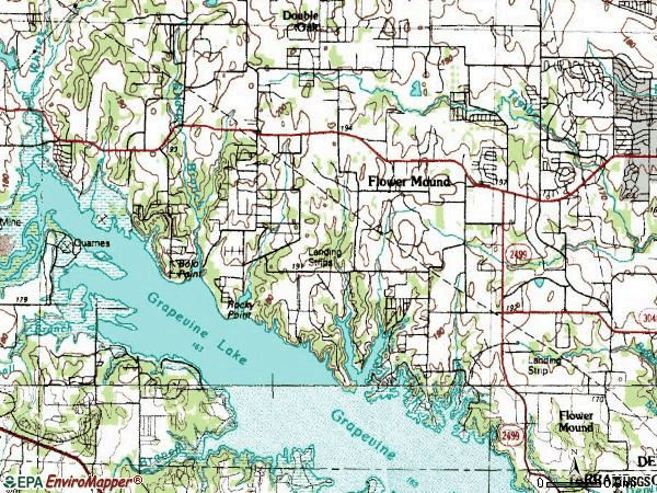 Zip code 75022 topographic map