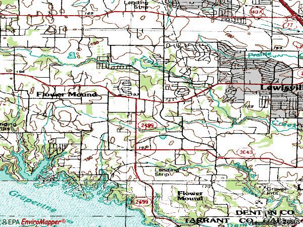 Zip code 75028 topographic map