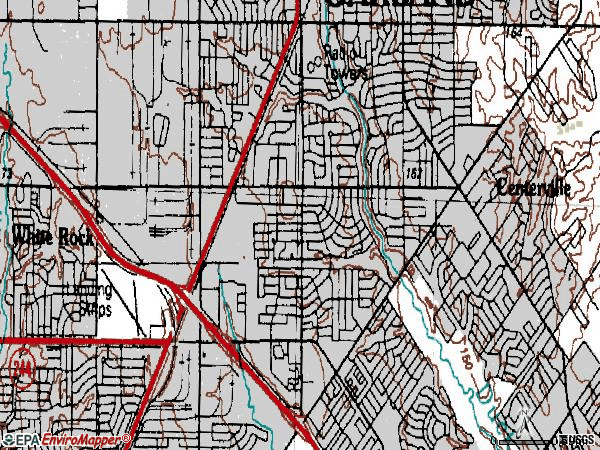 Zip code 75041 topographic map