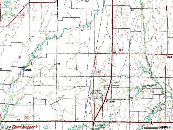 Zip code 75078 topographic map