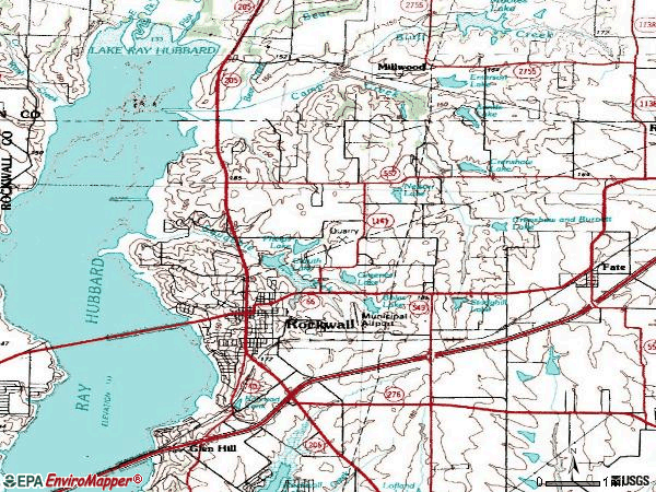 Zip code 75087 topographic map