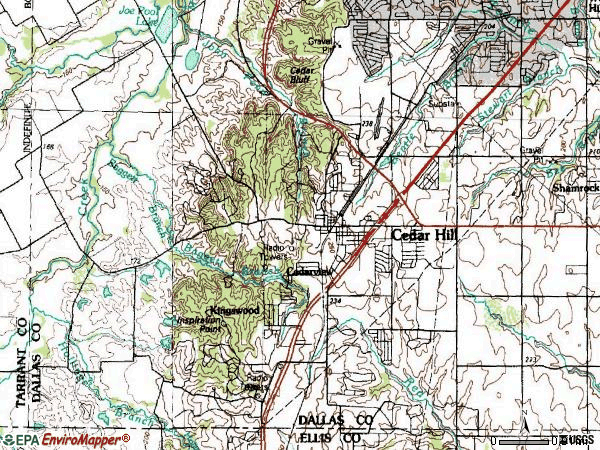 Zip code 75104 topographic map