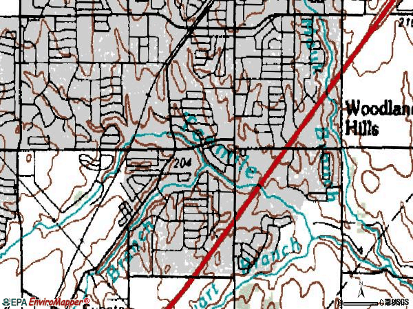 Zip code 75137 topographic map