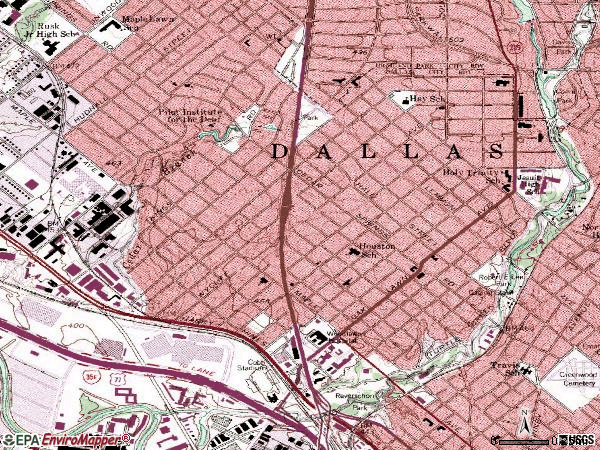 Zip code 75219 topographic map