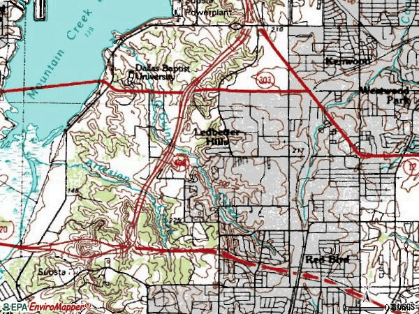 Zip code 75236 topographic map