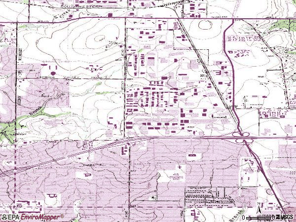 Zip code 75244 topographic map