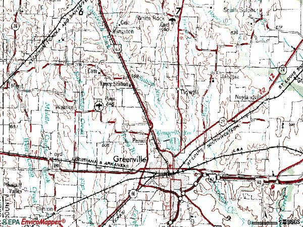 Zip code 75401 topographic map